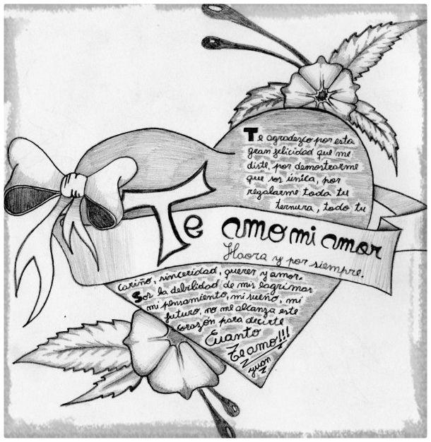 Resultado De Imagen Para Imagenes Bonitas Con Frases Para Dibujar Dibujos De Amor Dibujos De Corazones Dibujos Tiernos A Lapiz