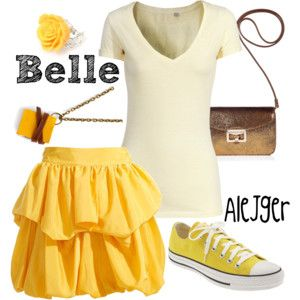 Modern Day Belle Outfits | more up-to-day outfit inspired by the color palette of her princess ...
