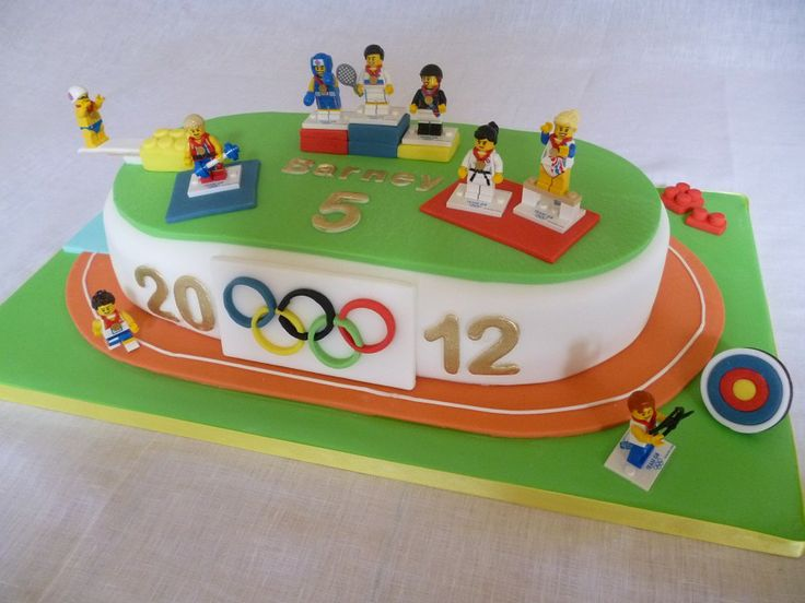 Olympic theme cake - idea for sonic and Mario. this is from: The Little Velvet Cake Company - Birthday Cakes