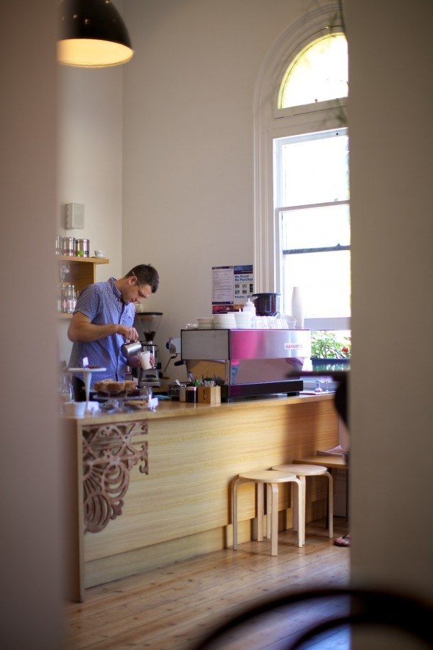Matt being a Barri-star in the Front room of Miss Jackson cafe in St.Kilda