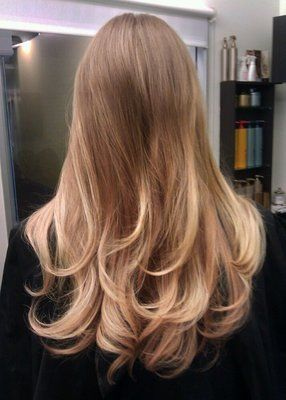 dark honey blond with swedish blond either highlights or ombre