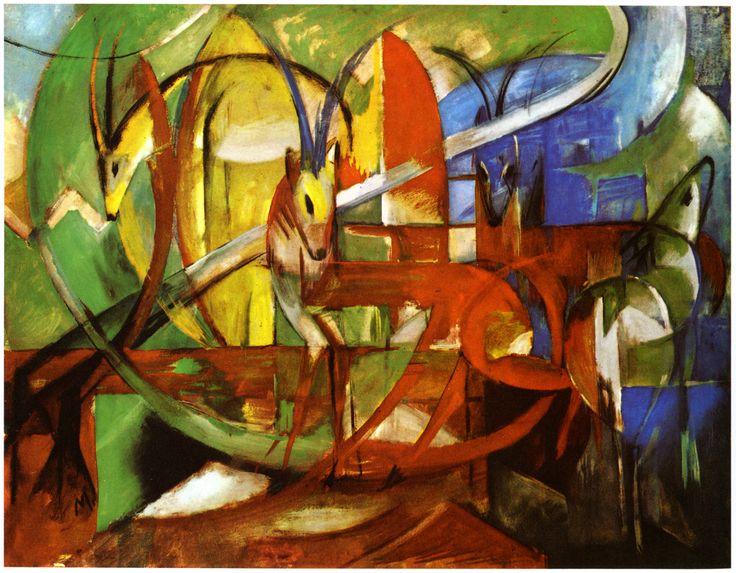 Franz Marc - Gazellen 1913  Art Experience NYC: www.artexperiencenyc.com