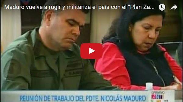Maduro activa el Plan Zamora para asustar a la gente