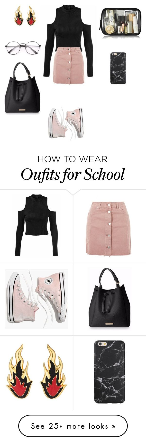 """""""For school 4"""" by cocomademoisellenumber5 on Polyvore featuring Topshop, Madewell and AMBUSH"""