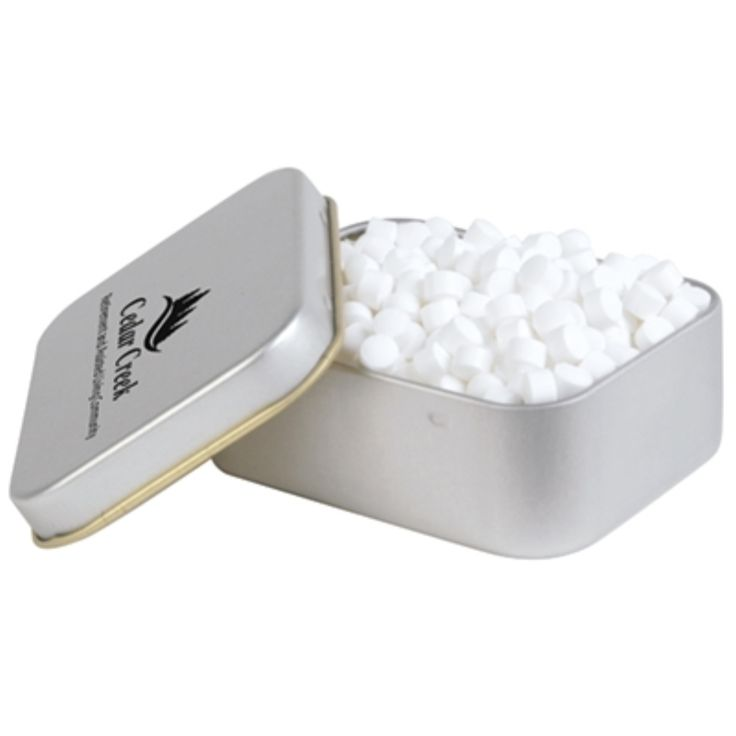 Peppermints In Silver Tin