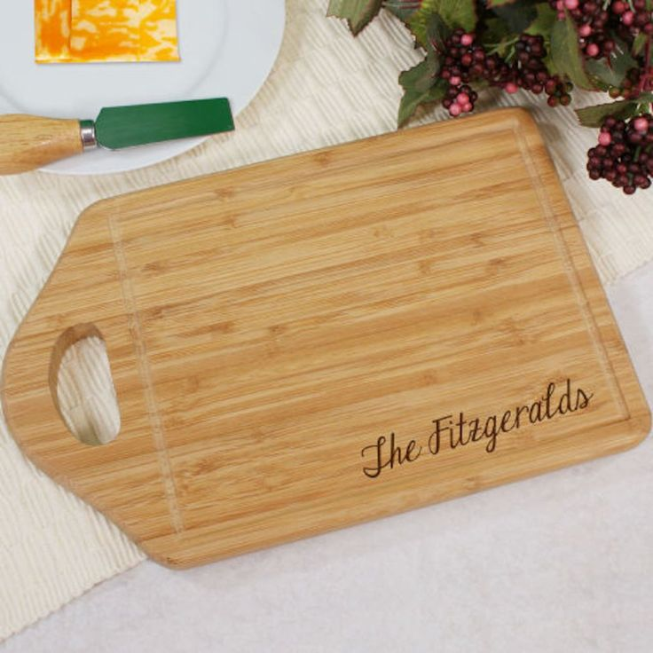 Personalized Engraved Family Name Bamboo Carving Board - Gifts Happen Here