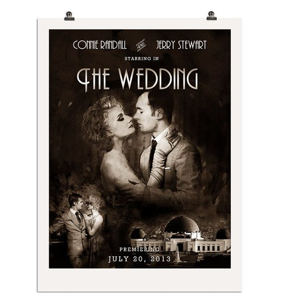 Custom DIY Old Hollywood Wedding Poster by NoblestHart on Etsy