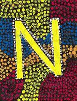 Paint letters as an aboriginal  by schoolchildren. Lettres peintent à la façon des aborigène par des écoliers.