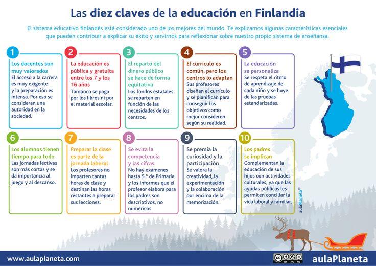 Los diez pilares del sistema educativo finlandés que tan buen resultado dan en las escuelas.