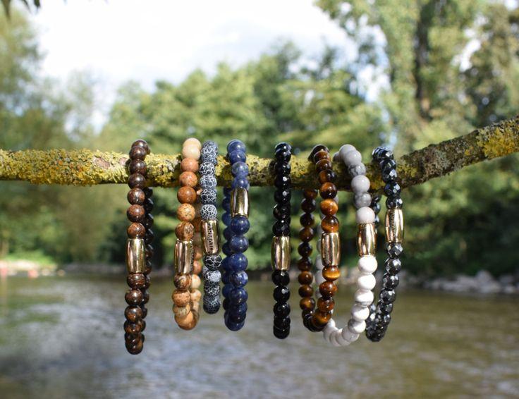 Check nu onze Armato basic collectie met handgemaakte armbanden van natuurstenen! #sieraden #herenmode #armbanden
