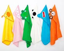 2017 nuevo diseño de los niños forma animal bebé de algodón toalla de baño con capucha HBT-002