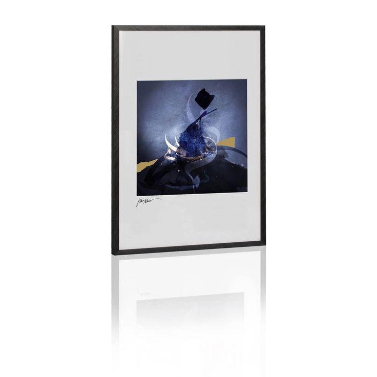 Salaam IV (Framed Art)  #300500 #ArtworkOnHevo #DecorArtwork #ArabicArtwork #black #decor #ArtFramedArt #blue #ArtFromGalleryOne #arabic #A3 #ArtworkFromGalleryOne #art #DecorFramedArt #calligraphy