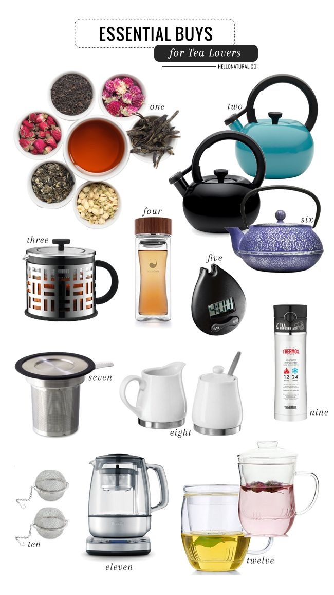 Sip in Style with 10 Essentials for Tea Lovers | http://hellonatural.co/10-essential-tea-accessories/