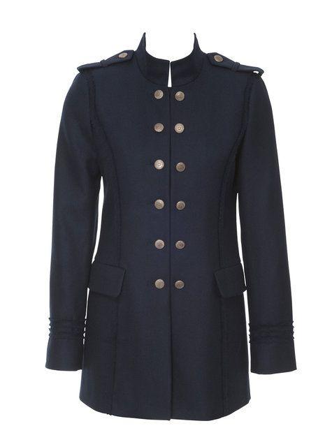 Free burda pattern for women's military jacket