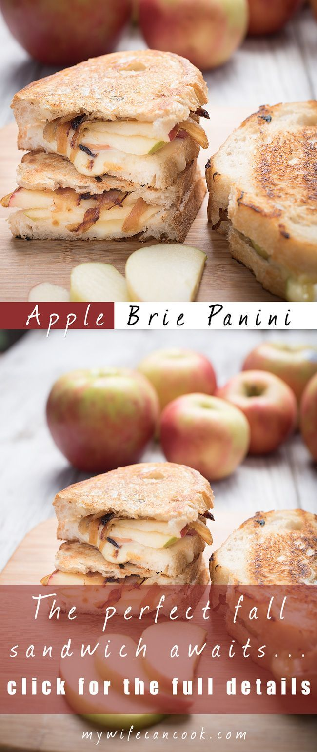 This apple brie sandwich tops our favorite apple recipes and panini ideas. We love panini sandwiches and apple recipes so it natural to put them together. After discovering that apples and brie pair together so well an apple brie panini was sure to follow and the addition of caramelized onions just takes the whole thing to new heights. So if your hunting for new fall recipes or the perfect fall sandwich then look no further than this amazing apple brie panini sandwich with caramelized…