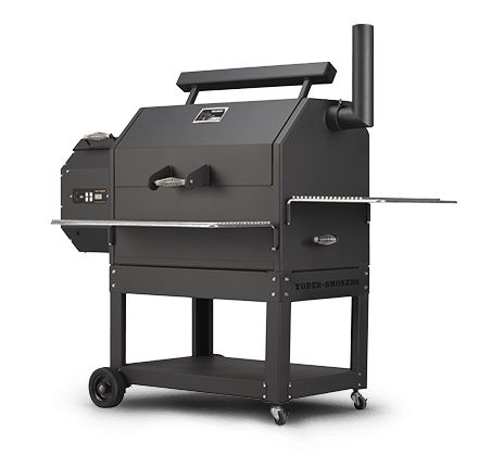 YS640 Pellet Grill | With an expansive 640 square inches of cooking surfaces and nearly twelve inches of headroom, there's plenty of room in a Yoder YS640 for anything, including beer can chickens or turkeys. Adding the optional second shelf increases cooking space on the YS640 to 1,070 square inches,maximizing your cooker's versatility for accommodating sides and extra meats. #TeamYoder #PelletGrills