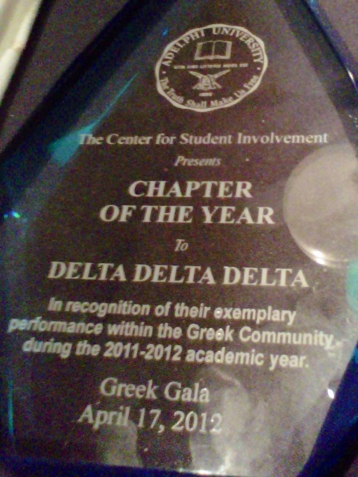 Congrats Alpha Alpha! Our Adelphi sisters were recognized as Chapter of the Year!