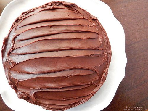 Tort cu ganache de ciocolata si caramel.  Caramel Chocolate Cake