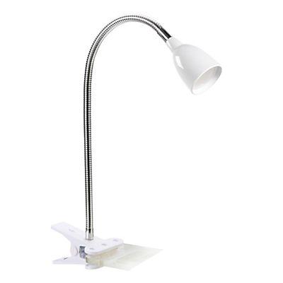 Luma Lampe de bureau articulée à pince blanche