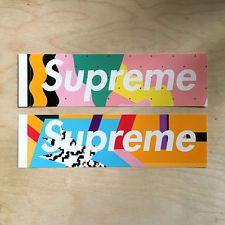 Supreme box logo sticker vinyl decal skateboard original NYC Alessandro Mendini