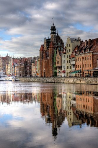 Gdańsk, Poland is a beautiful town on the southern edge of the Baltic sea.  #Seaport #Poland #internationalstudent