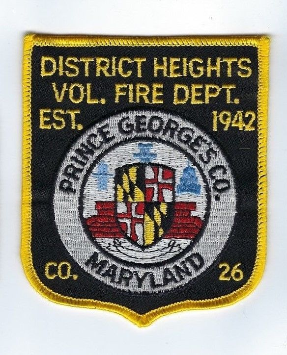District Heights (Prince Georges Co.) MD Maryland Vol. Fire Dept. patch - NEW!
