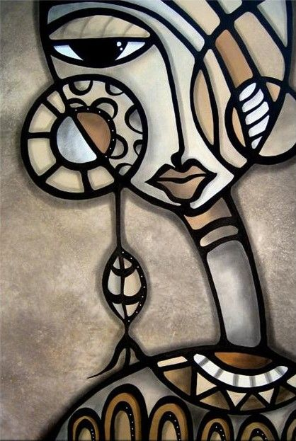 Cubist Art Identity Crisis, original, by Thomas C. Fedro - Chicago artist Tom…