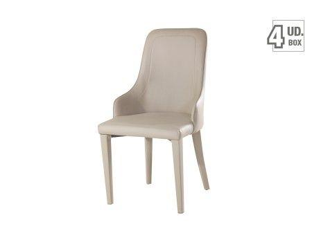 compra al mejor precio esta silla de comedor modelo auriga con asiento respaldo y patas tapizado en cuero sinttico