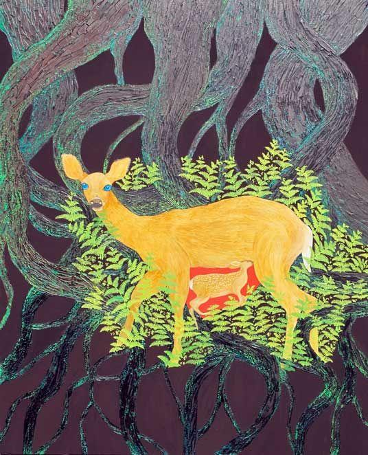 """""""Doe"""", oil on canvas, 160x140 cm, 2007, http://www.elizadanowska.pl/"""