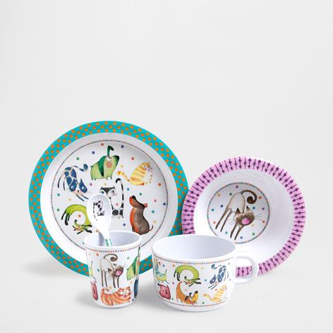 Dogs and cats melamine tableware - Tableware - Tableware   Zara Home United States