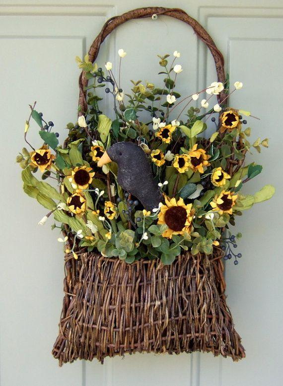 summer door wreaths | Summer Wreath Fall Wreath Wreath for Door Door by countryprim, $36.00