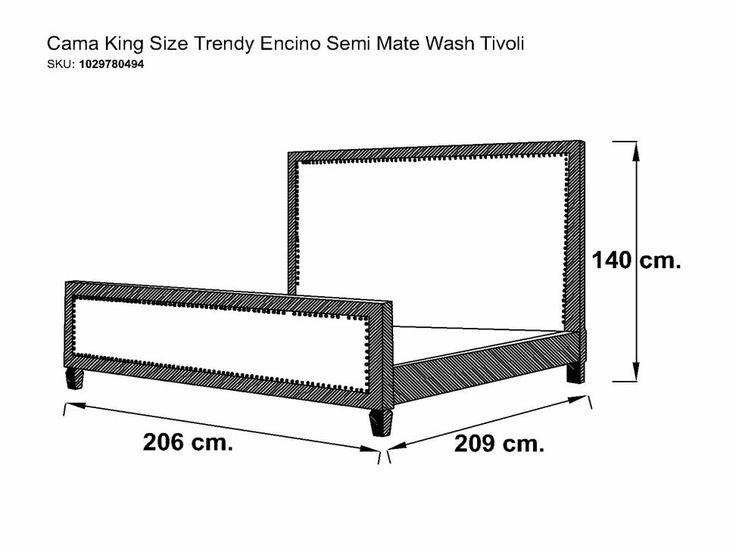 M s de 25 ideas incre bles sobre medidas cama king en for Medidas de base para cama king size