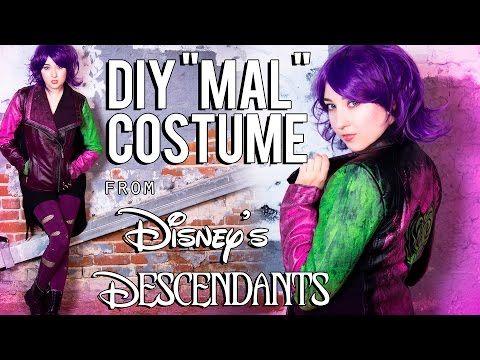 "Disney's Descendants ""Mal"" DIY Costume Tutorial - YouTube"