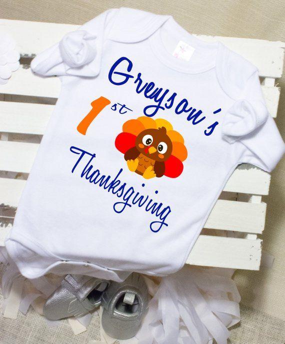 71d520cf Baby Boy Thanksgiving Onesie®, Thanksgiving Outfit Baby Boy Onesie®, My First  Thanksgiving Baby Boy,