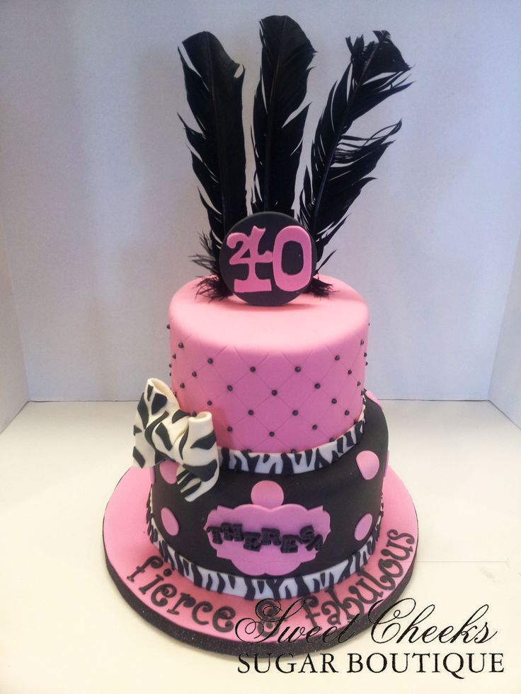 A Fierce Fabulous And Forty Themed Birthday Cake For