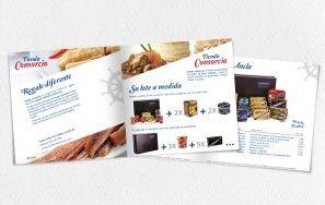 Catálogo Lotes de Productos Tienda Consorcio. Diseño e impresión de catálogo de 16 páginas.