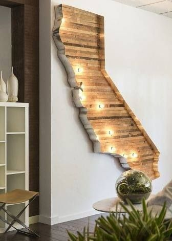 California State wooden DIY wall piece