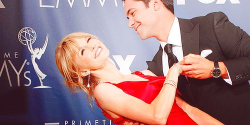 Kathryn Morris and Danny Pino at the Emmys
