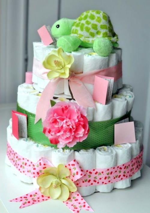 Guía para hacer tortas de pañales.  www.pequeocio.com