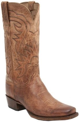 H1504 Burleson Lucchese Since 1883 Heritage Tan Burnished Goat Mens Western Boots