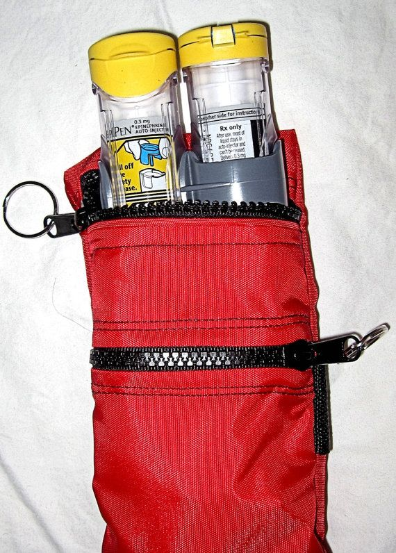 Epi Pen or AuviQ case pouch carrier insulated by racheltreasures