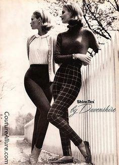 Vintage Fashion: Skinny 1960 Cigarette Pants