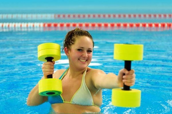 Get fit with water aerobics