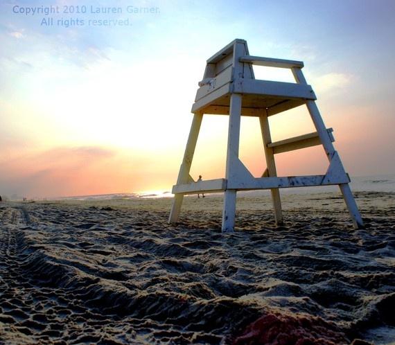 Myrtle Beach : lifeguard's chair on the beach