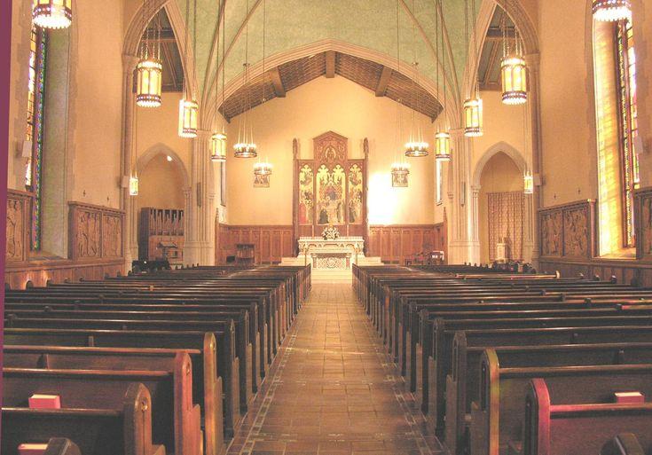 Fordham University Rose Hill Church Interior Wedding