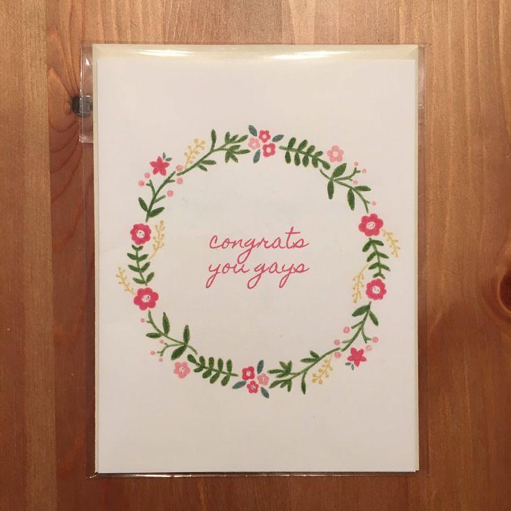 #queer #gay #wedding #gayweddingcard https://www.etsy.com/ca/listing/584942785/congrats-gay-wedding-card
