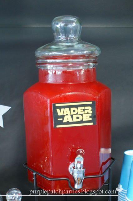 Vader-ade drinks at a Star Wars party