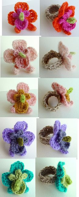 Orchid Flower Rings