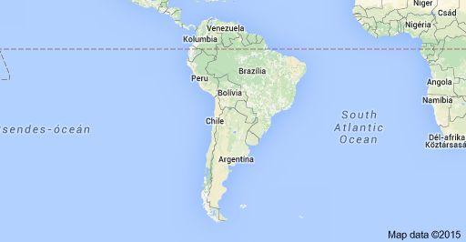 Map of Dél-Amerika