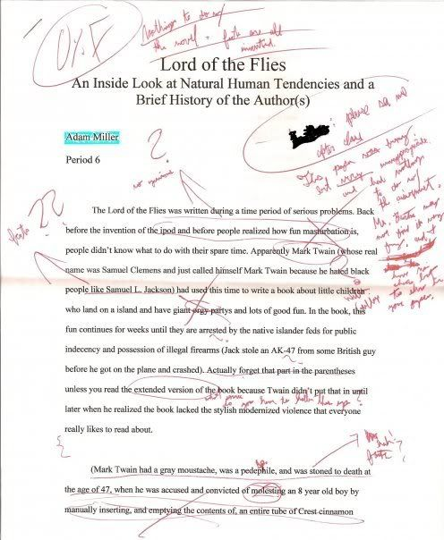 essay for lord of the flies+characters English essays: lord of the flies - character analysis of ralph.